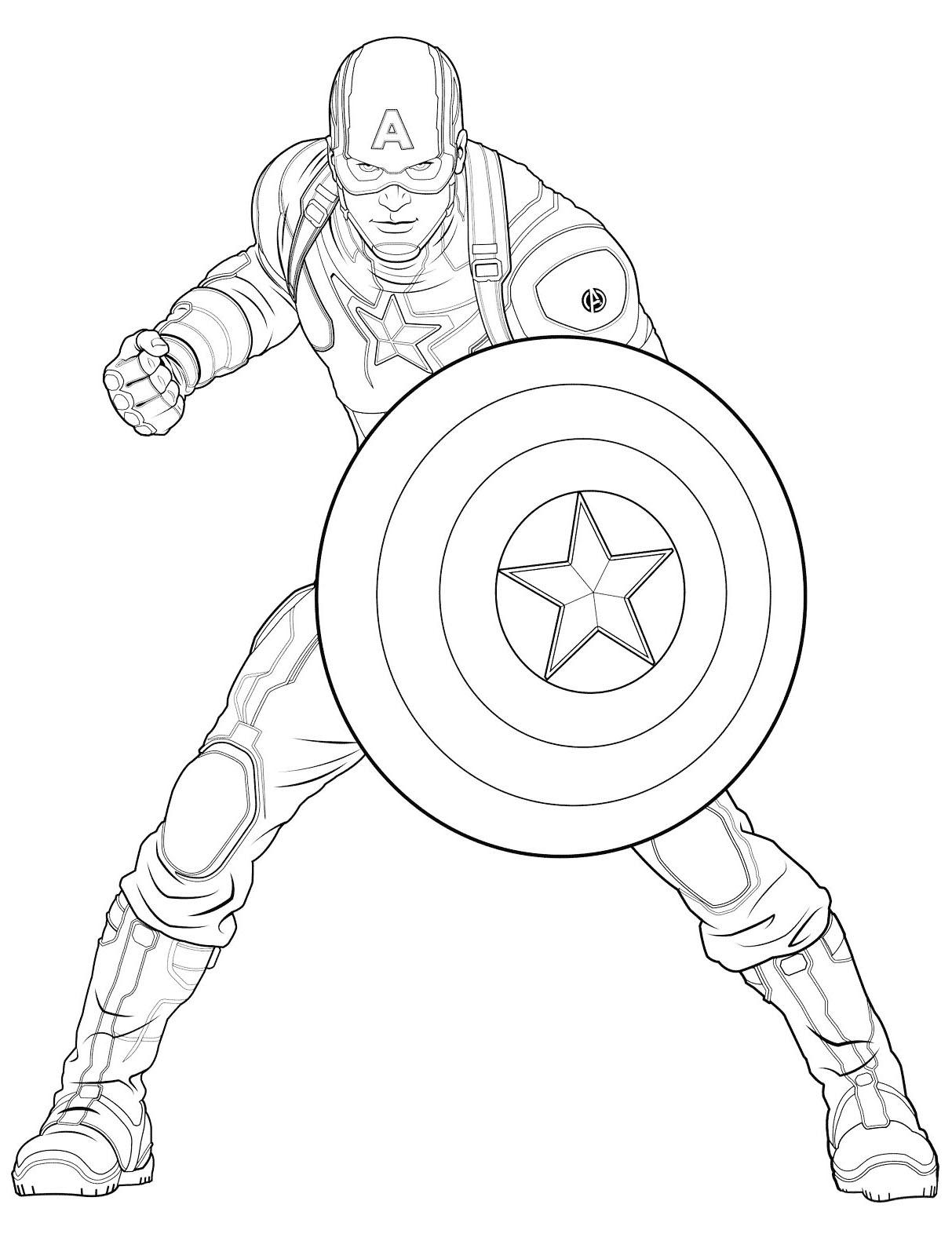 Image de Captain America à télécharger et imprimer pour enfants