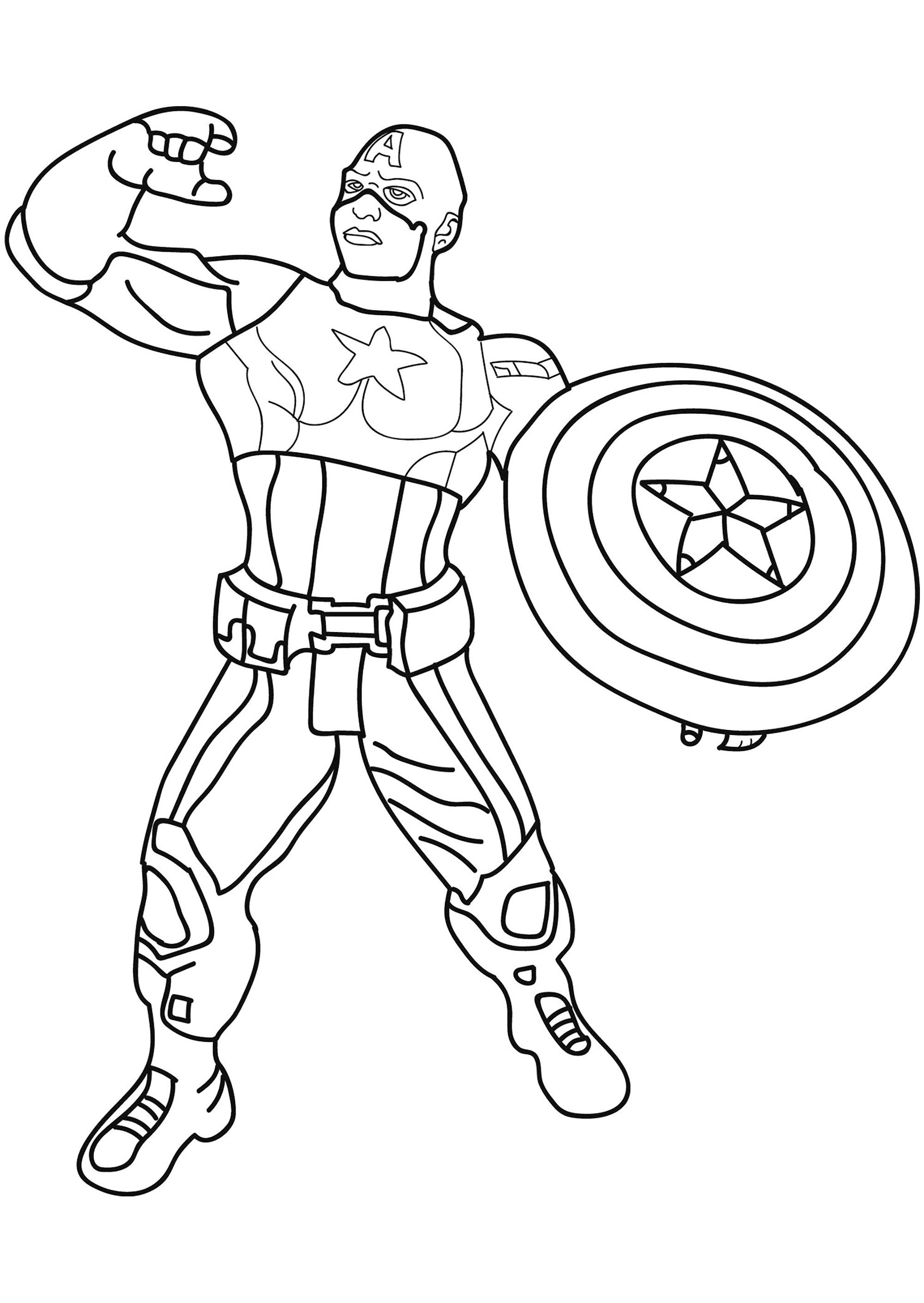 Ironman And Captain America Coloring Pages Best Of Captain America Coloring Page Luxury Avengers Coloring Pages With Coloriage Captain America Coloriages Pour Enfants