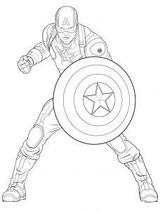 Coloriage de Captain America à imprimer