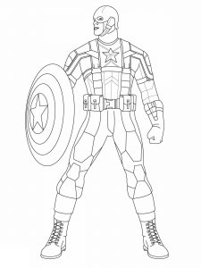 Image de Captain America à imprimer et colorier