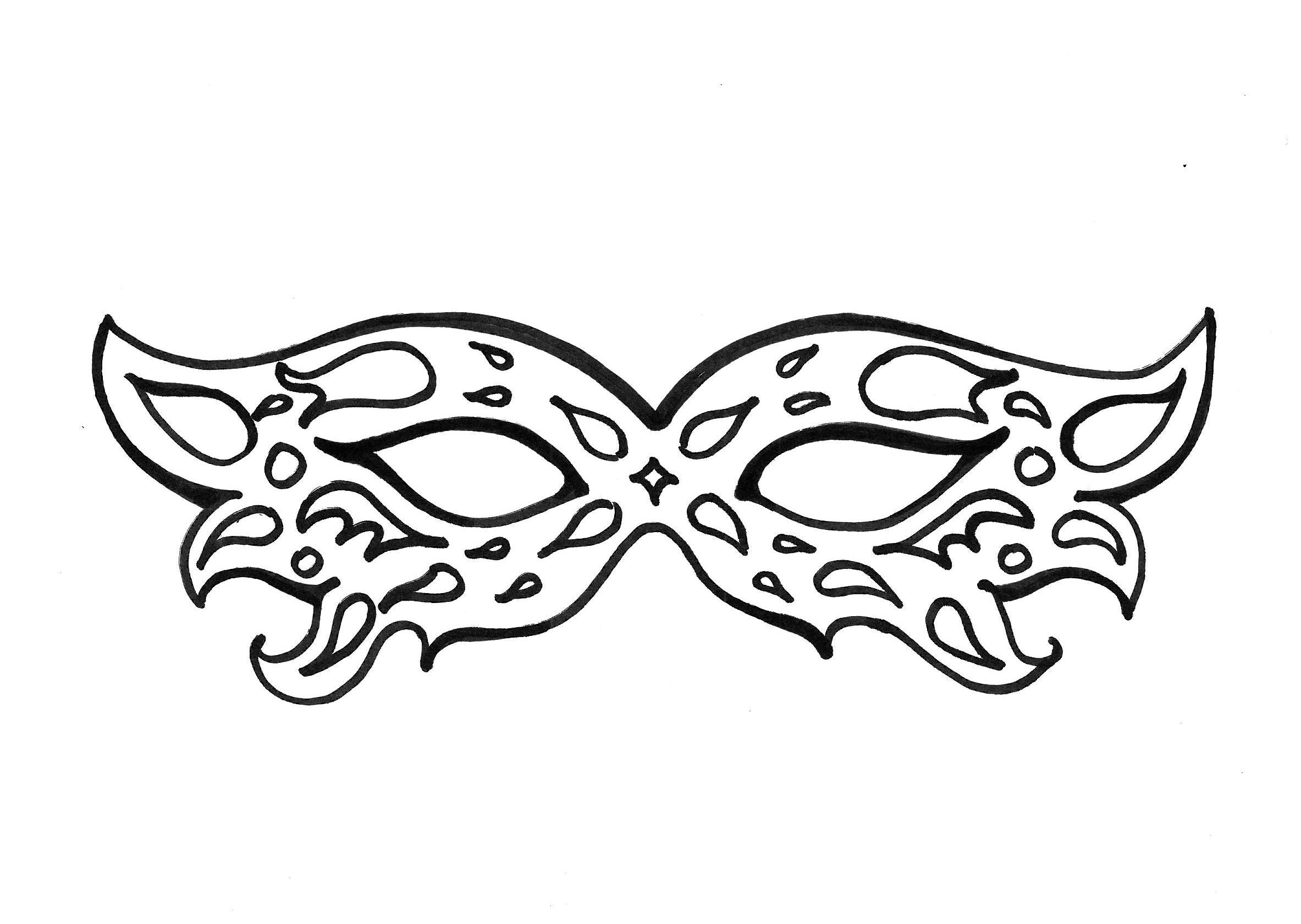 Carnaval 4 coloriage carnaval coloriages pour enfants - Masque spiderman a imprimer ...