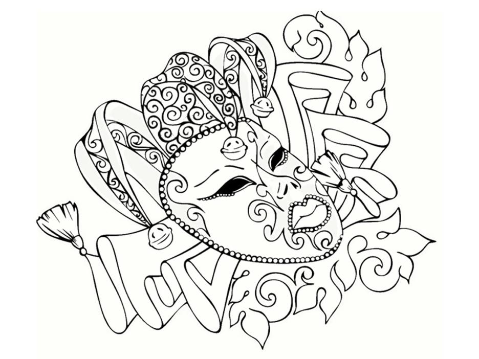 Carnaval beau masque coloriage carnaval coloriages - Dessin de masque de carnaval ...
