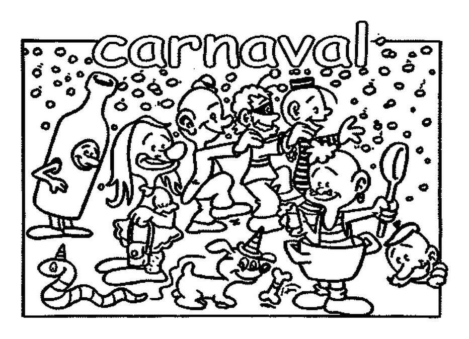 Carnaval enfants coloriage carnaval coloriages pour - Dessins de carnaval ...