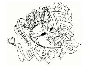 coloriage-carnaval-beau-masque free to print