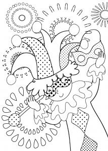 making_masks_coloring_page free to print