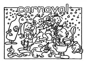 coloriage-carnaval-enfants free to print