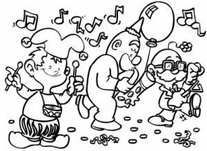 coloriage-carnaval-musique free to print