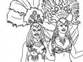 Coloriage de Carnaval à imprimer gratuitement