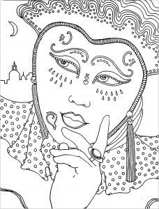 Femme déguisée pour le carnaval