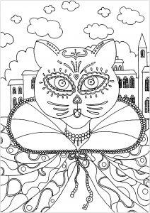 Joli Chat prêt pour le carnaval