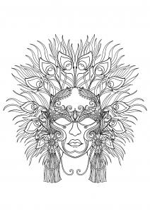 Superbe masque du Carnaval de Venise