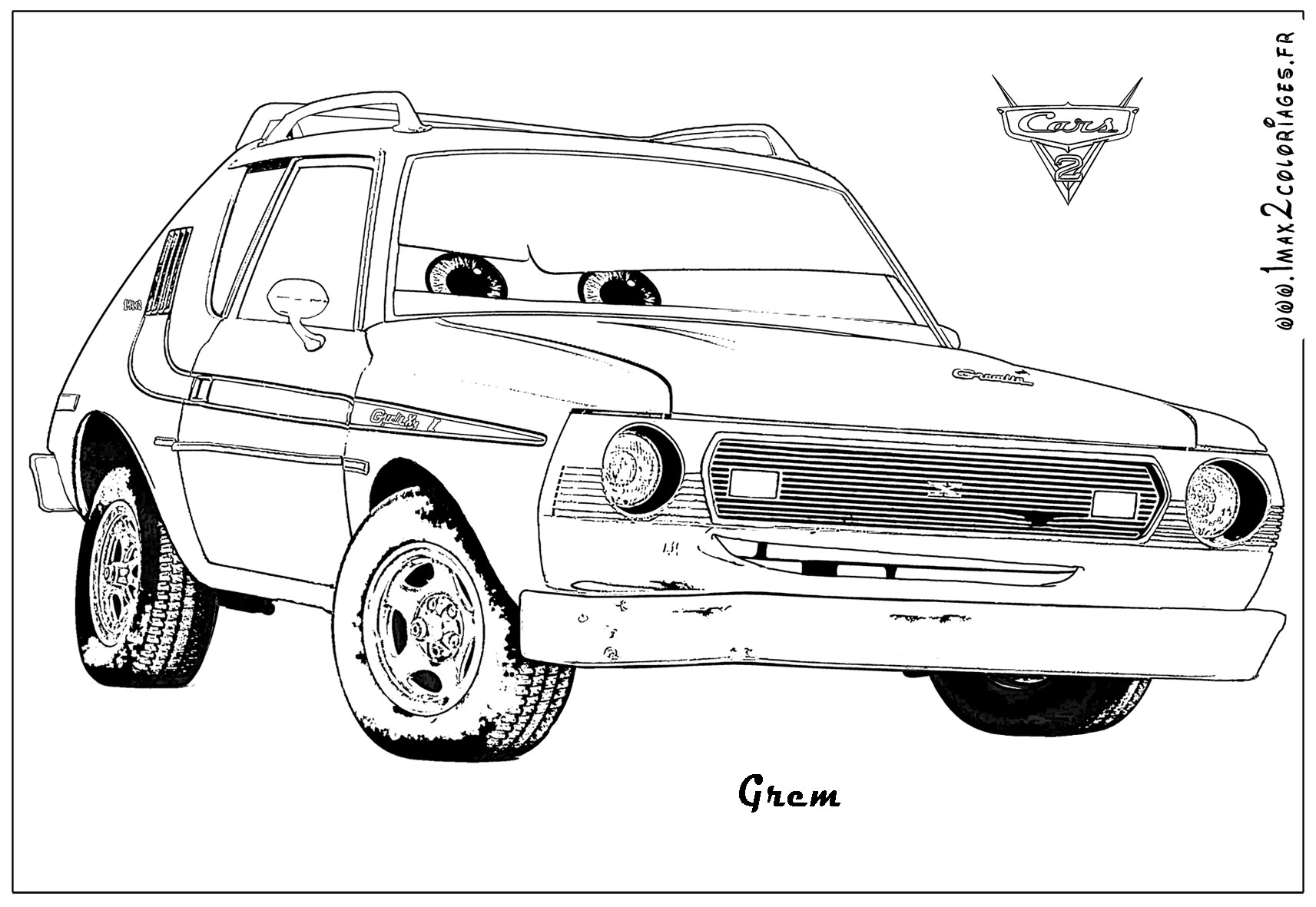 Coloriage Cars Francesco A Imprimer.Coloriages Cars2 2 Coloriage Cars 2 Coloriages Pour Enfants