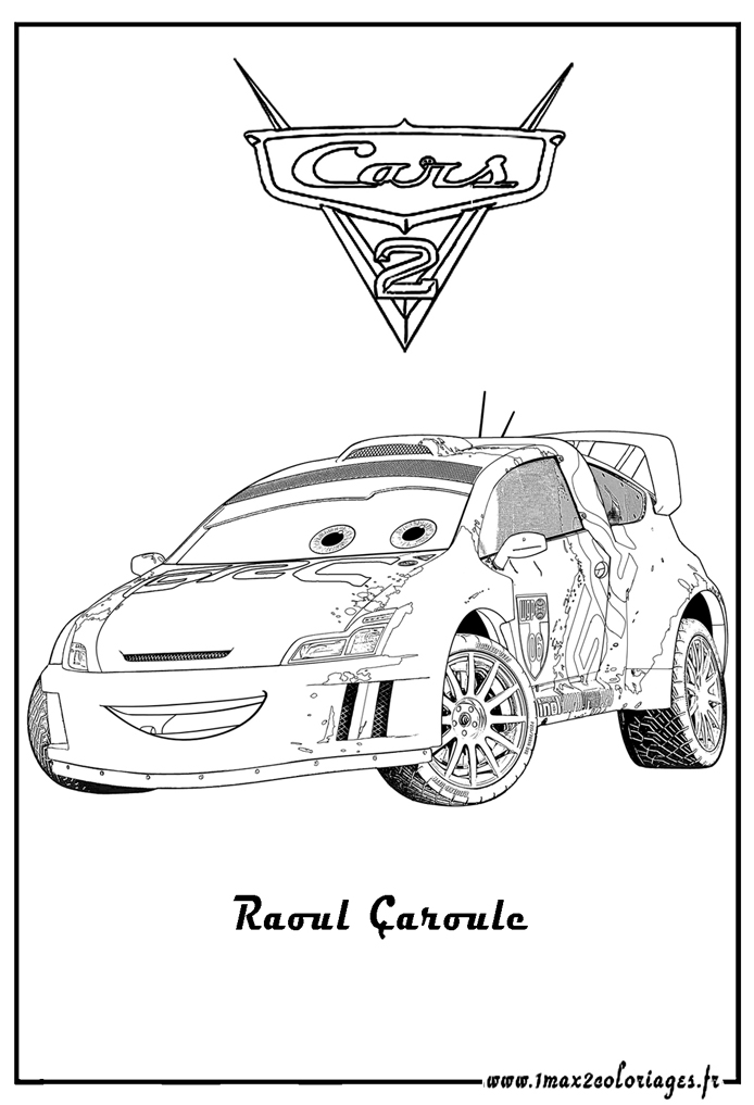 Coloriages cars2 8 coloriage cars 2 coloriages pour enfants - Coloriage la cars ...