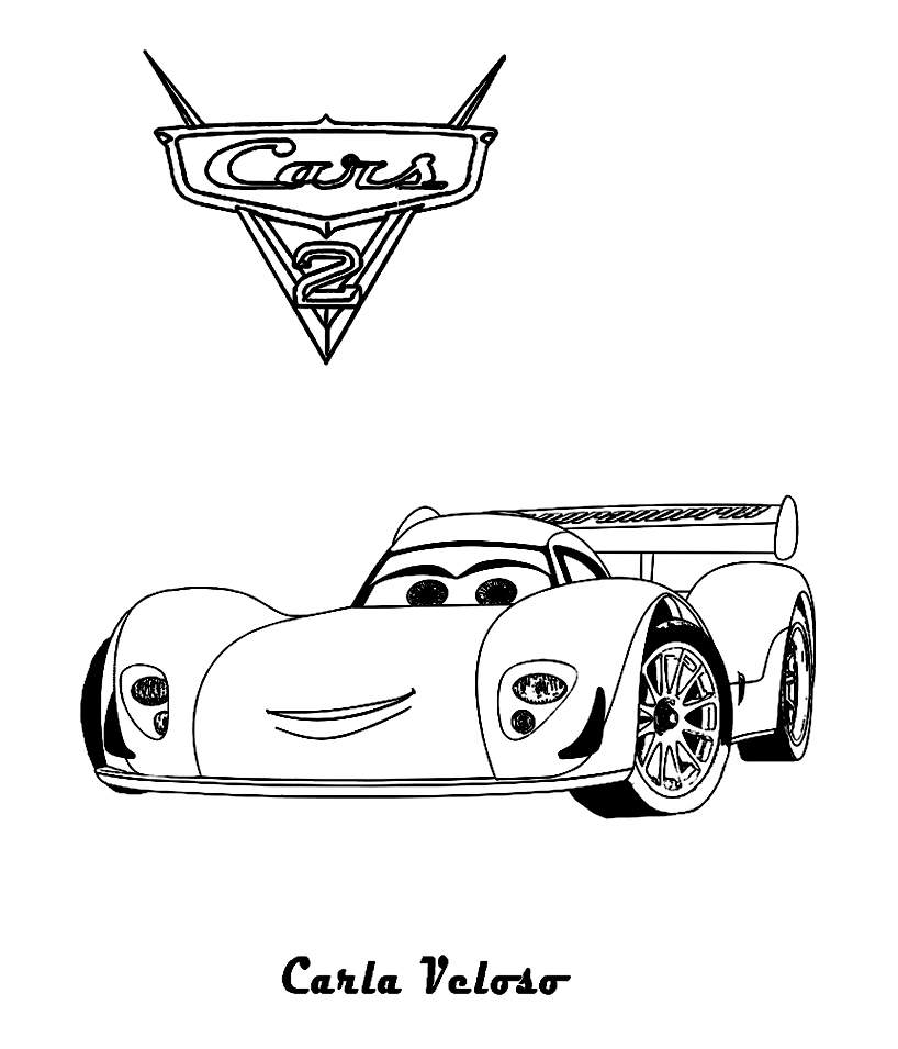 Cars 2 11 coloriage cars 2 coloriages pour enfants - Cars 2 coloriage ...