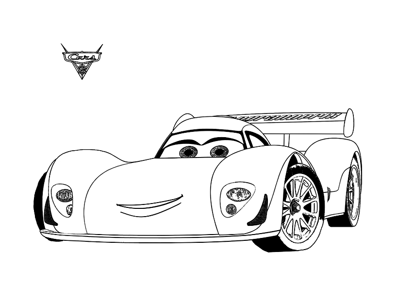 Cars 2 13 coloriage cars 2 coloriages pour enfants - Coloriages de cars ...