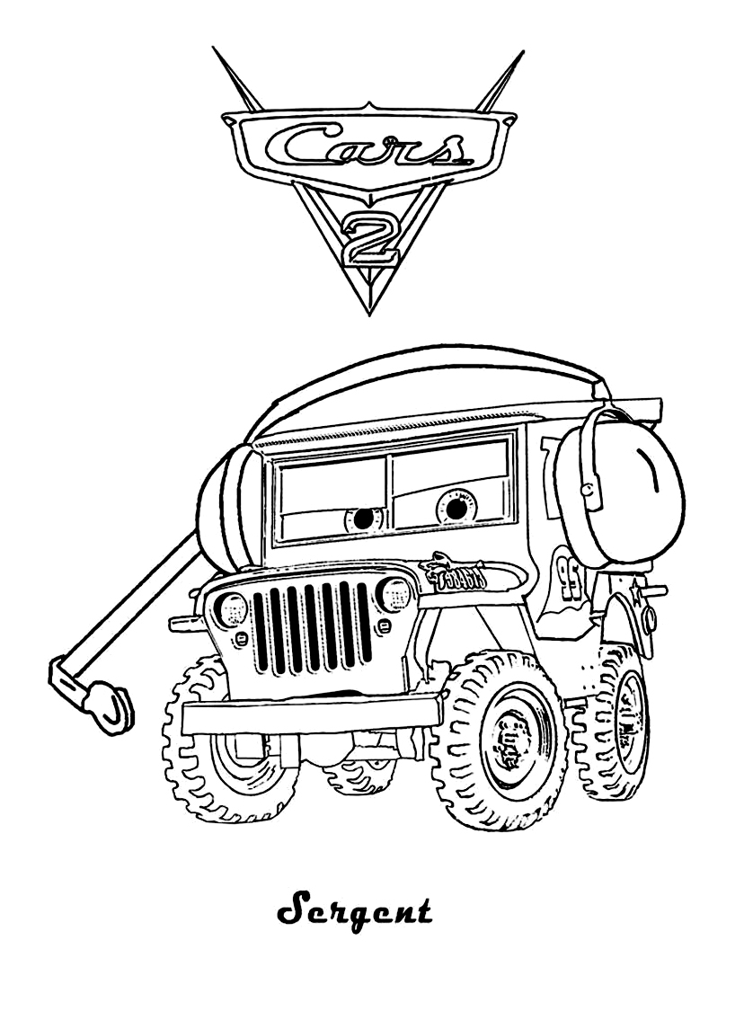Cars 2 4 coloriage cars 2 coloriages pour enfants page 2 - Cars 2 coloriage ...