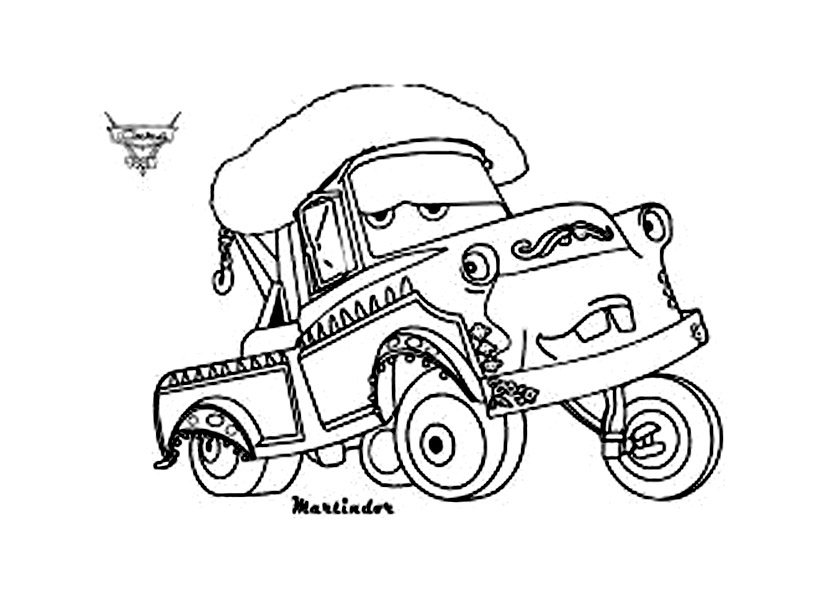 Cars 2 7 coloriage cars 2 coloriages pour enfants - Cars 2 coloriage ...