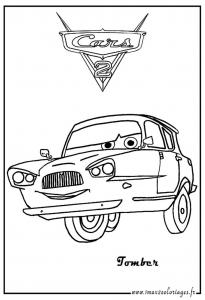 Coloriage de Cars 2 à telecharger gratuitement