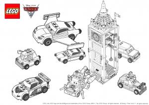 Coloriage de Cars 2 à imprimer pour enfants