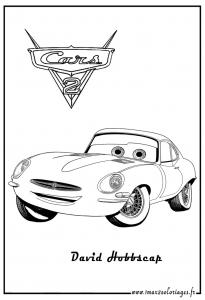 Coloriage de Cars 2 à colorier pour enfants