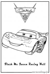 Coloriage de Cars 2 gratuit à colorier