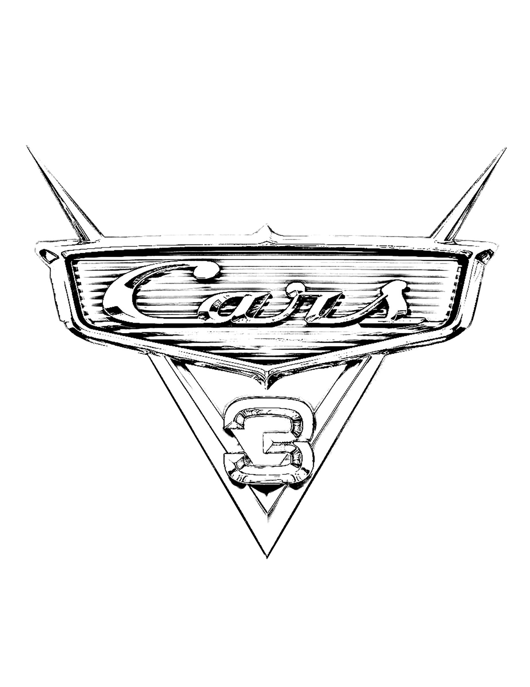 Coloriage Cars 3 Miss Fritter.Cars 3 Logo Coloriage Cars 3 Coloriages Pour Enfants