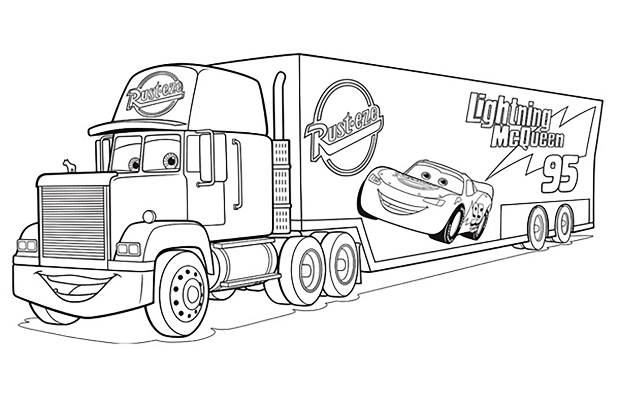 Cars 3 mack truck coloriage cars 3 coloriages pour enfants - Coloriages de cars ...