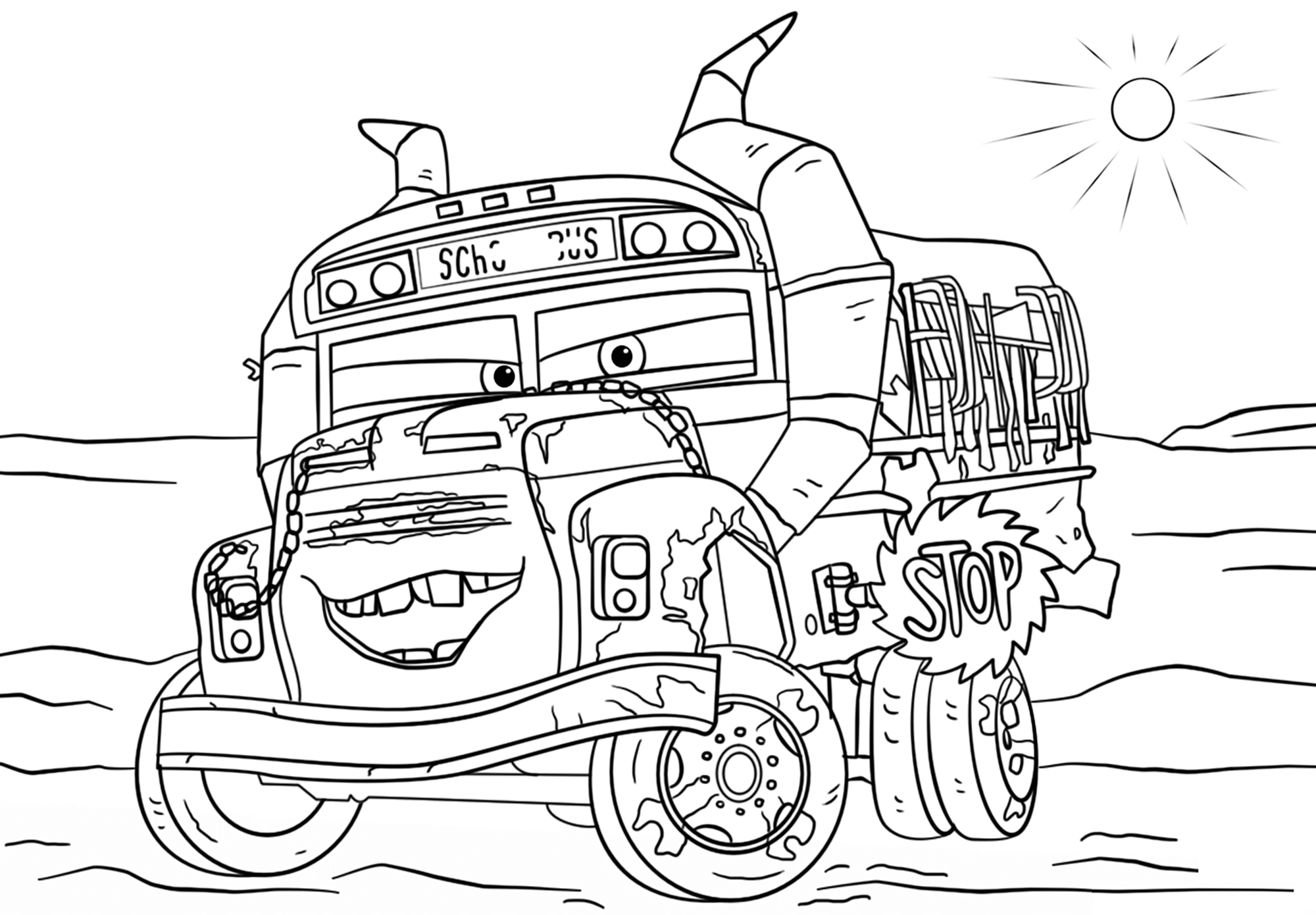 Cars 3 miss fritter coloriage cars 3 coloriages pour - Coloriages de cars ...