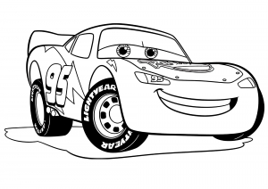 Image de Cars 3 à télécharger et colorier : Flash Mc Queen