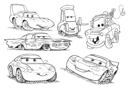 Cars disney pixar 6 coloriages cars coloriages pour enfants - Car coloriage ...
