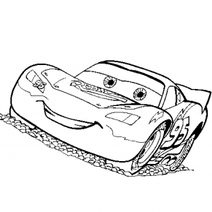 Coloriage Cars Flash Mc Queen free to print