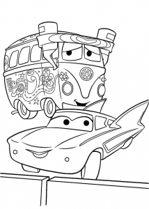 Coloriage de Cars à imprimer pour enfants