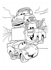 Coloriage de Cars à imprimer gratuitement