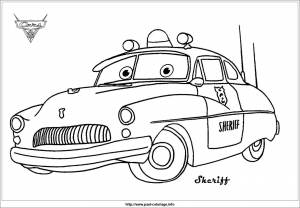 Coloriage Cars Doc