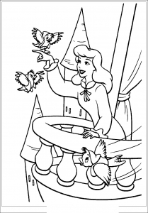 Coloriage cendrillon 1