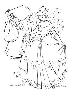 Coloriage cendrillon 2