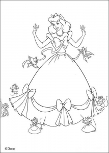 coloriage cendrillon 6