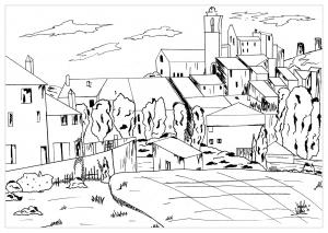 Dessin de Cézanne gratuit à télécharger et colorier