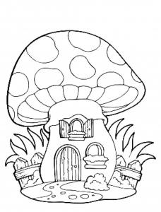 Image de champignon à imprimer et colorier