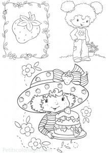 Coloriage de Charlotte aux fraises à colorier pour enfants