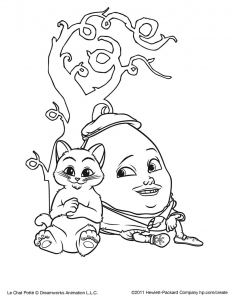 Coloriage Chat Botte A Imprimer.Coloriage Du Chat Potte Coloriages Pour Enfants