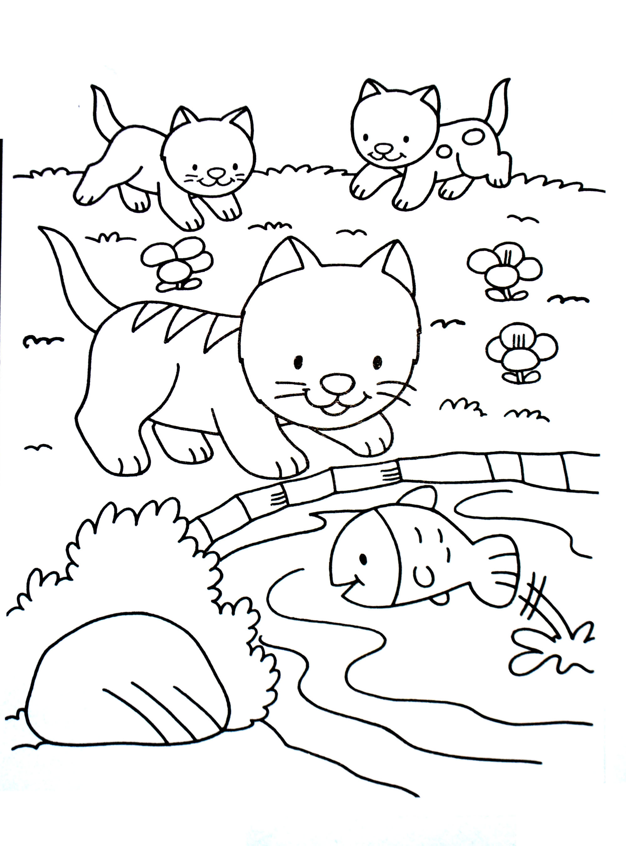 A imprimer chat 1 coloriages de chats coloriages - Coloriage chat a imprimer ...