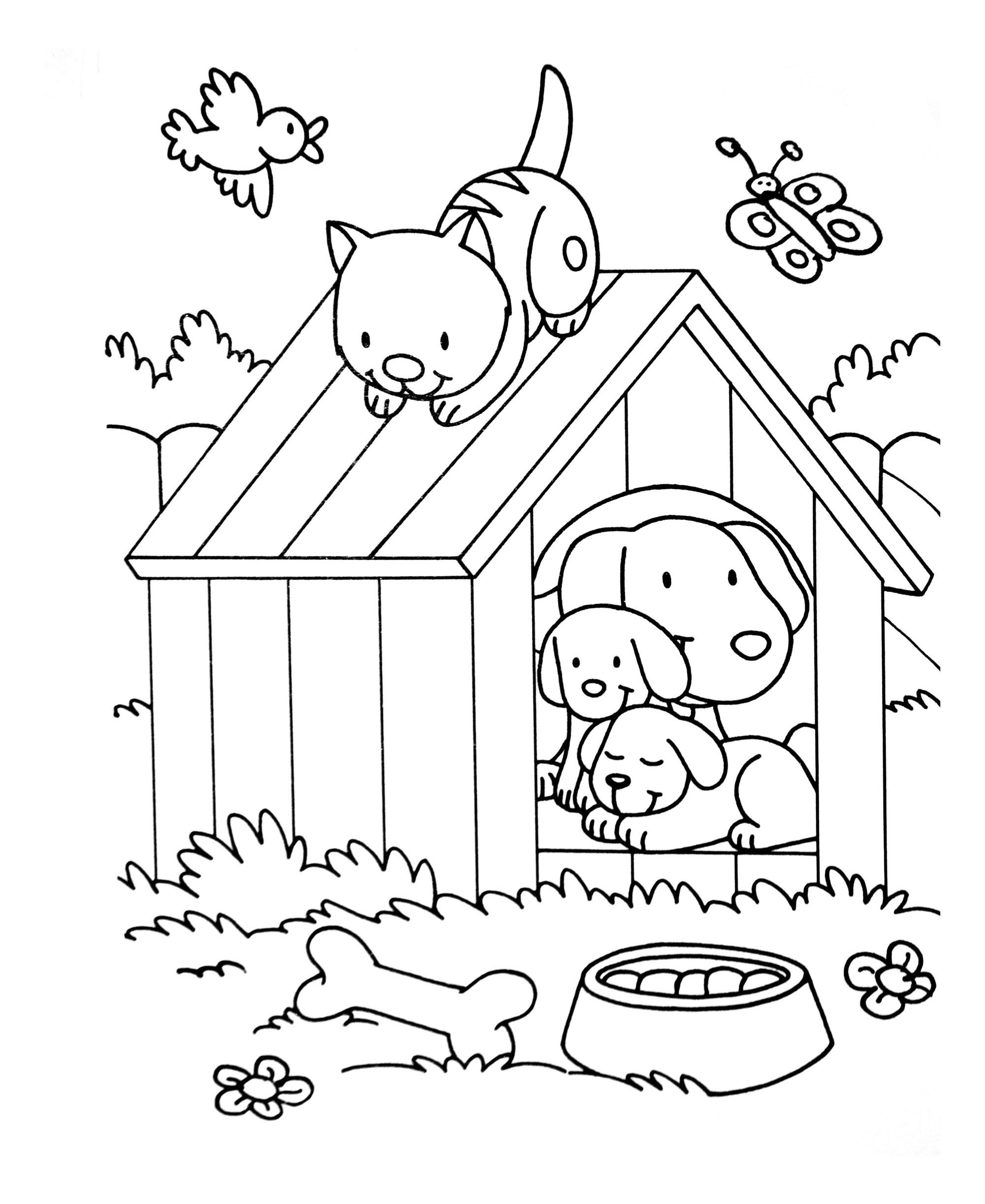 Coloriages De Chats Coloriages Pour Enfants