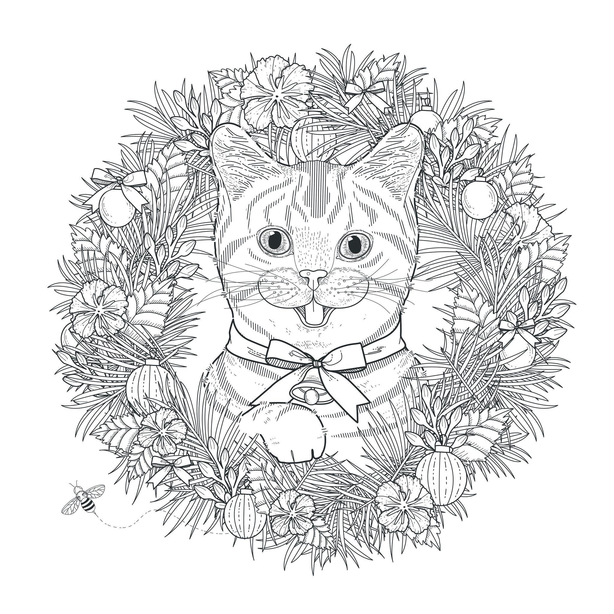 Coloriage de chat à télécharger gratuitement - Coloriages ...