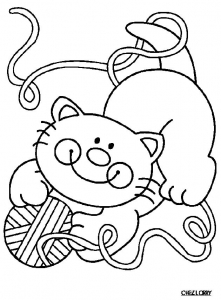 Coloriage chat rigolo