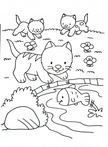 Coloriage de chat à télécharger