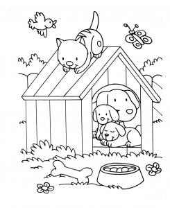 Coloriage de chat pour enfants