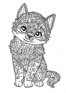 Dessin de chat gratuit à télécharger et colorier
