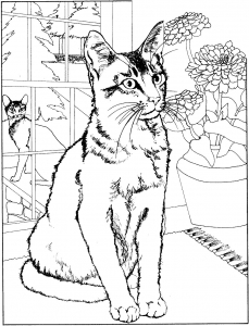 Jolie chatte free to print