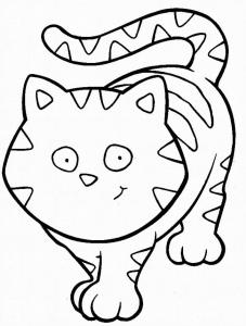 Chat gentil à colorier free to print